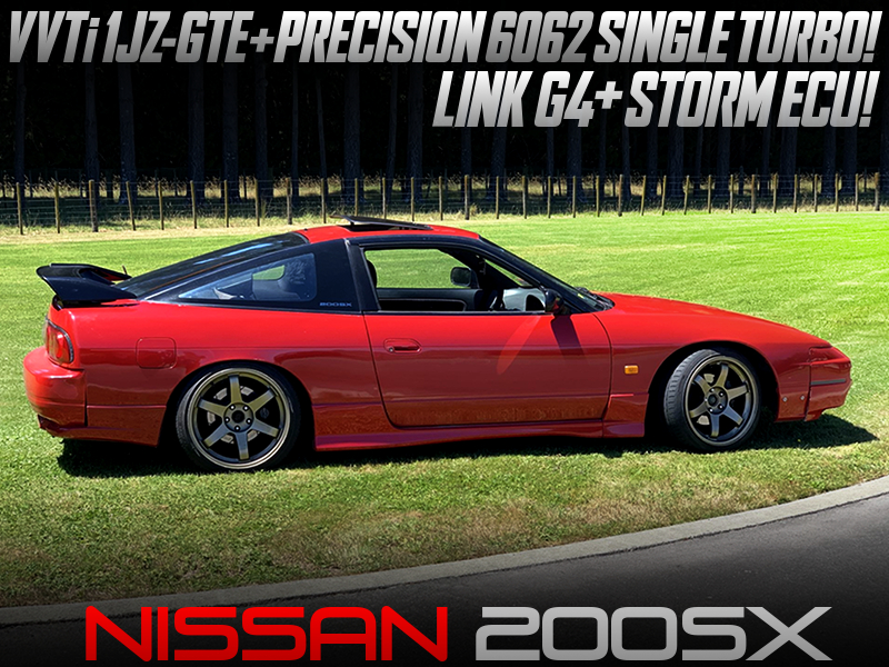 VVTi 1JZ-GTE SWAP with 6062 TURBO and LINK ECU MODIFIED into NISSAN 200SX.
