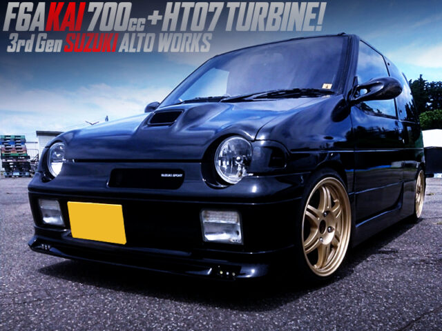 F6A with 700cc STROKER and HT07 TURBO into 3rd Gen SUZUKI ALTO WORKS.