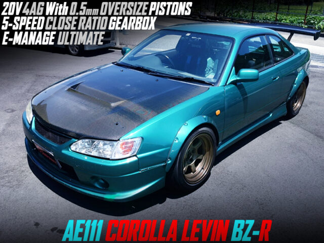 20V 4AGE With OVERSIZE PISTONS and CLOSE-RATIO GEARBOX MODIFIED AE111 LEVIN BZ-R.