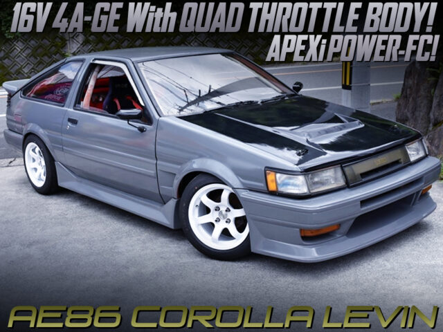16V 4AGE with ITBs and POWER-FC ECU MODIFIED AE86 LEVIN.