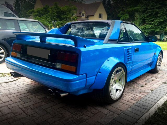REAR EXTERIOR OF AW11 MR2.