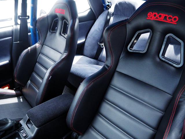 SPARCO BUCKET SEATS.
