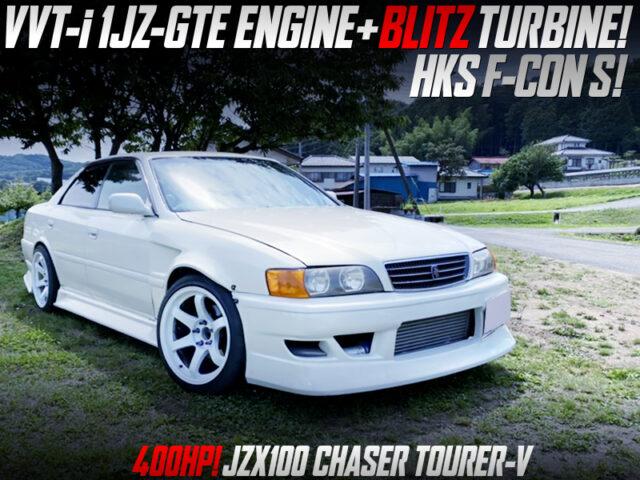 400HP BLITZ TURBOCHARGED 1JZ-GTE into JZX100 CHASER TOURER-V.