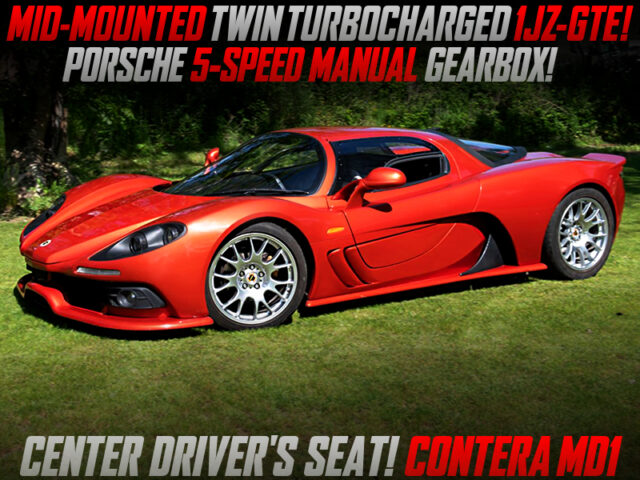 MID-MOUNTED TWIN TURBOCHARGED 1JZ-GTE into CONTERA MD1.