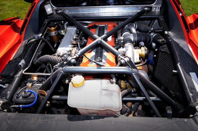 1JZ-GTE TWIN TURBO ENGINE MID MOUNTED.