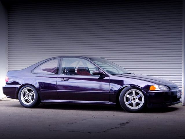 FRONT LEFT-SIDE EXTERIOR OF EJ1 CIVIC COUPE.