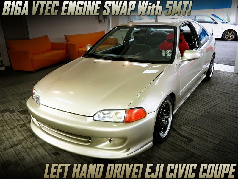 B16A VTEC SWAPPED OF EJ1 CIVIC COUPE.