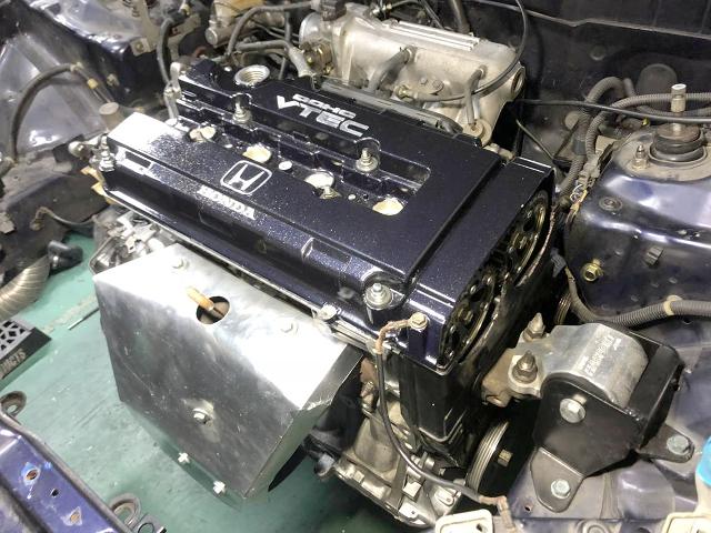 REBUILT B18C VTEC ENGINE.