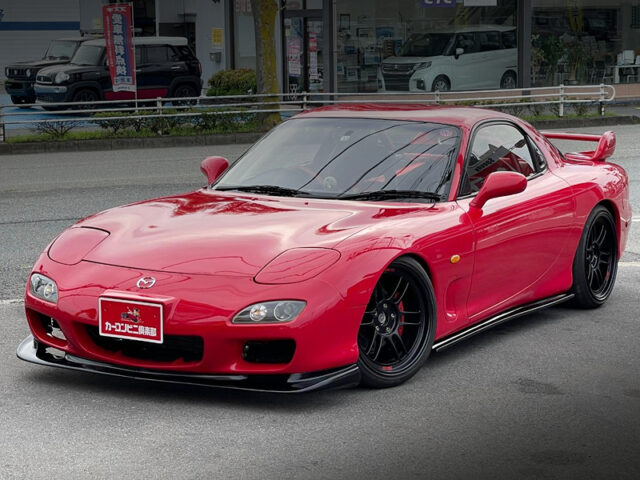FRONT EXTERIOR OF FD3S MAZDA RX7 TYPE-R2.