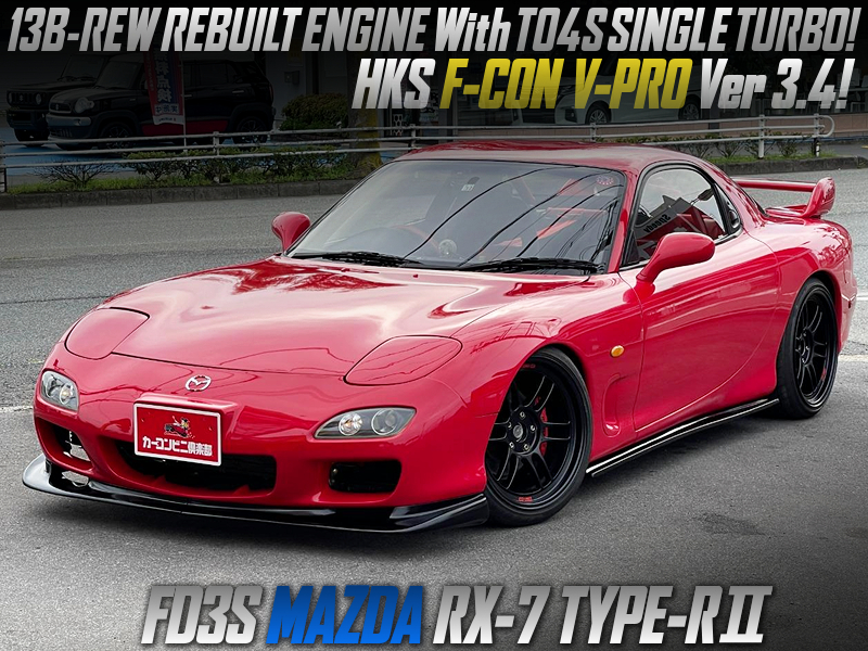13B-REW REBUILT ENGINE with TO4S TURBO MODIFIED OF FD3S RX7 TYPE-R2.