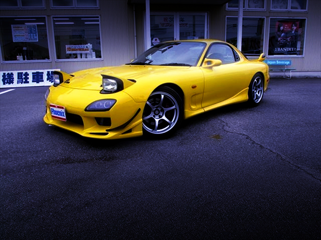 FRONT EXTERIOR OF FD3S RX7 TYPE RSR.