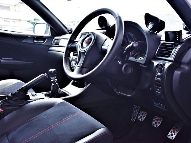 DRIVER'S DASHBOARD OF GRB WRX STI.