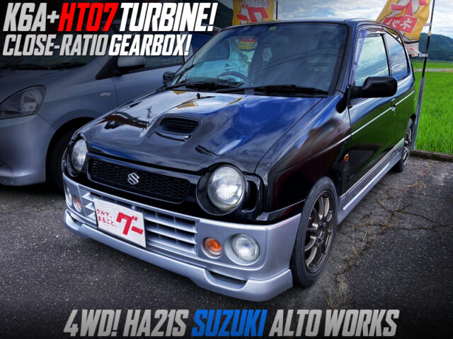 K6A TWINCAM with HT07 TURBO and CLOSE-RATIO GEARBOX into HA21S ALTO WORKS.