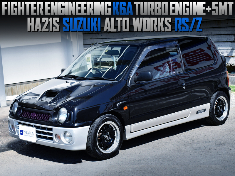 FIGHTER K6A TURBO ENGINE into HA21S ALTO WORKS RSZ.
