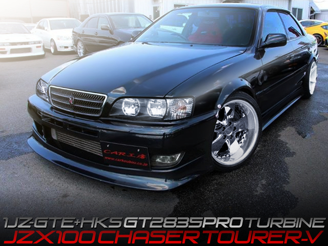 1JZ-GTE with GT2835PRO TURBINE and POWER-FC into JZX100 CHASER TOURER-V.