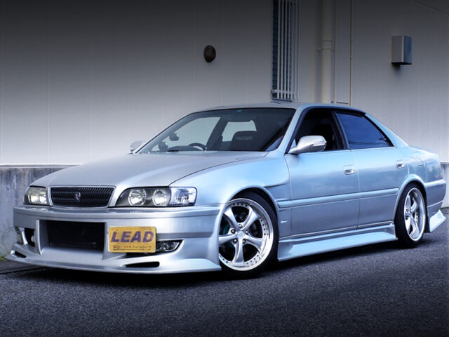 FRONT EXTERIOR OF JZX100 CHASER TOURER-V with KUNNYZ BODY KIT.