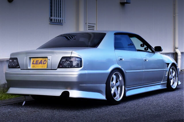 REAR EXTERIOR OF JZX100 CHASER TOURER-V with KUNNYZ BODY KIT.