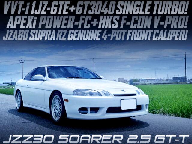 1JZ-GTE with GT3040 SINGLE TURBO MODIFIED JZZ30 SOARER 25GTT.
