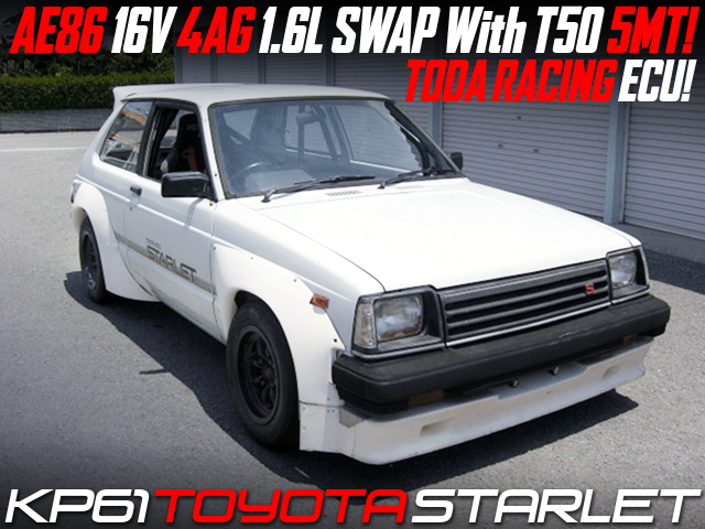 AE86 4AG and T50 5MT SWAPPED KP61 STARLET WIDEBODY.