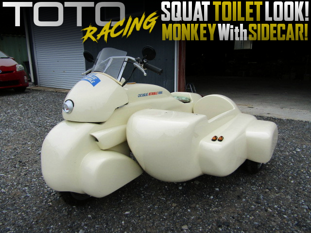 SQUAT TOILET LOOK of MONKEY WITH SIDECAR.