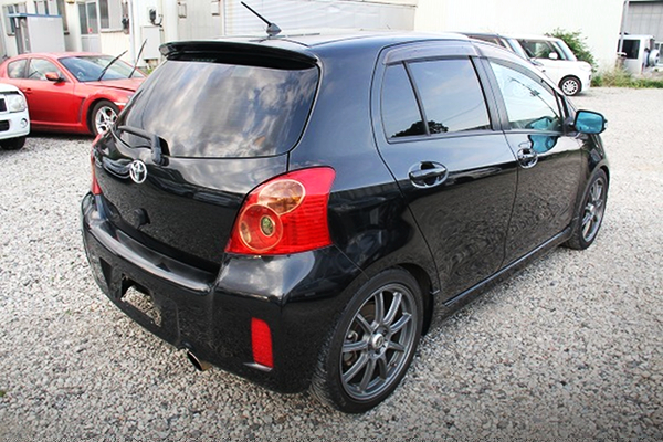 REAR EXTERIOR OF NCP91 VITZ RS.