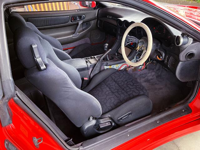 DRIVER'S INTERIOR OF Z16A GTO TWIN TURBO.