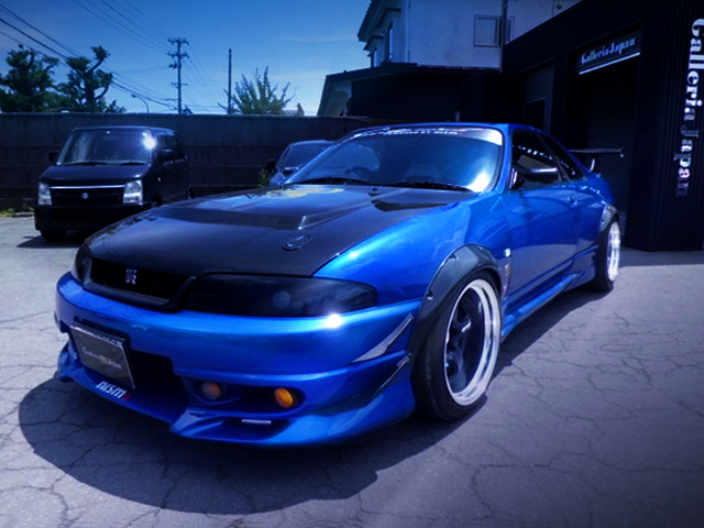 FRONT EXTERIOR OF R33 GT-R with FENDER FLARES.