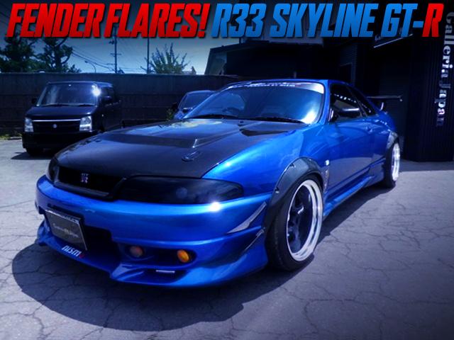 FENDER FLARES INSTALLED R33 GT-R.