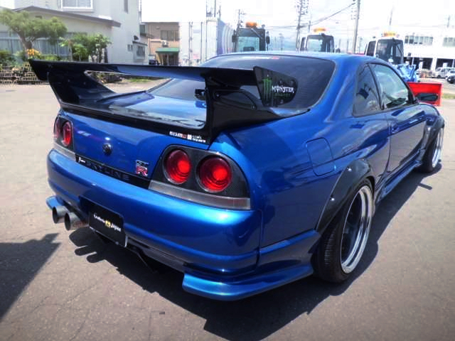 FREAR EXTERIOR OF R33 GT-R with FENDER FLARES.
