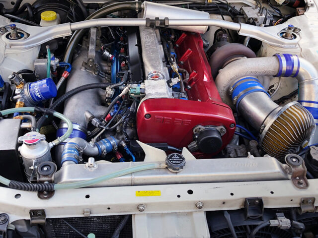 RB26 with 2.8L STROKER and GREDDY SINGLE TURBO.