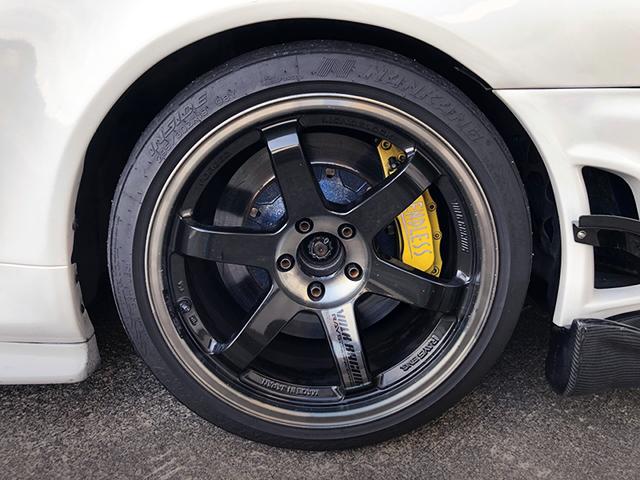 TE37 Wheel and ENDLESS BRAKE CALIPER.