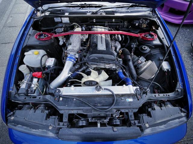 S15 SR20DET TURBO ENGINE into S13 SILVIA ENGINE ROOM.