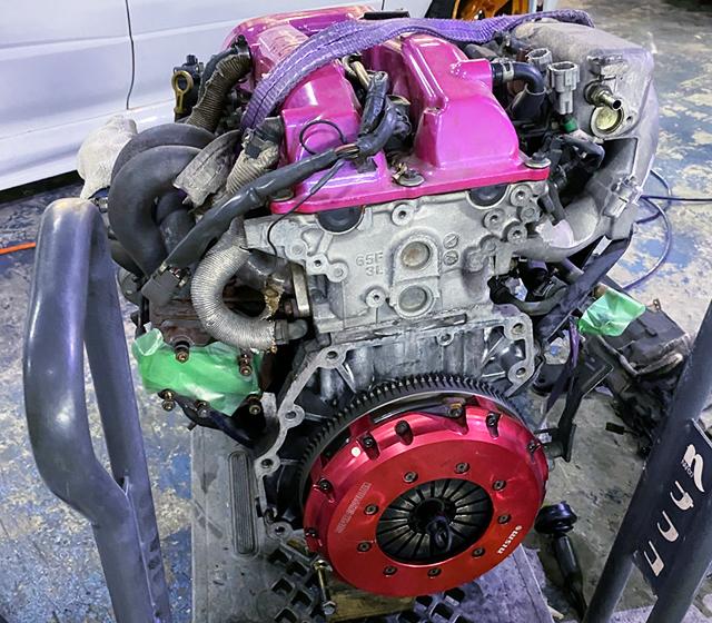 S14 SR20DET TURBO ENGINE.