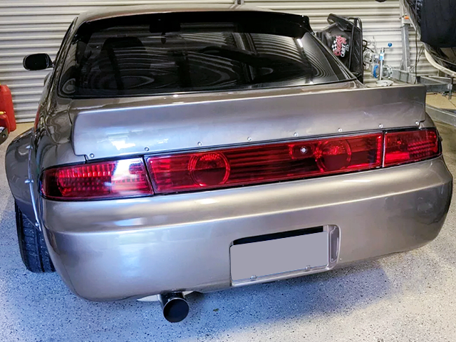 REAR EXTERIOR OF S14 200SX with BOSS V2 KIT.
