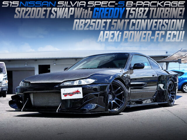 SR20DET With T518Z turbo and RB25DET 5MT MODIFIED INTO S15 SILVIA SPEC-S G-PACKAGE.