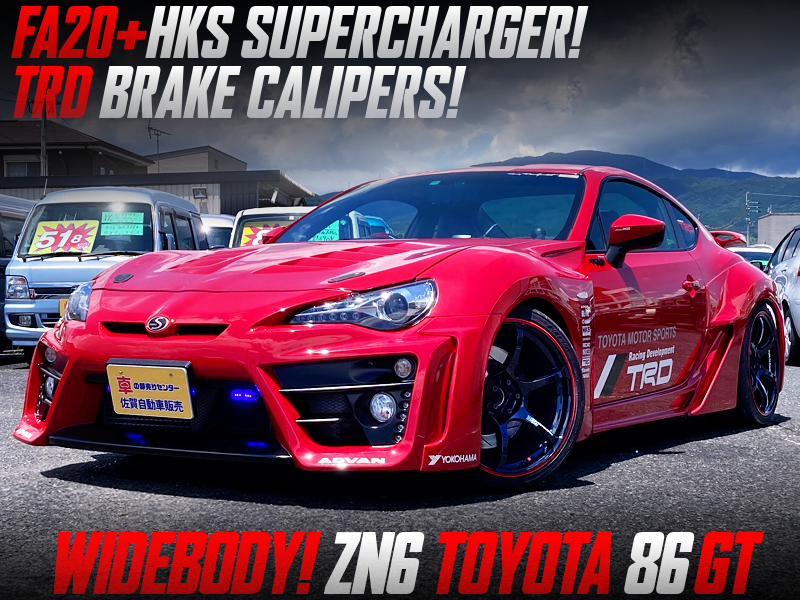 HKS SUPERCHARGER and TRD BRAKE CALIPERS MODIFIED ZN86 TOYOTA 86 GT WIDEBODY.