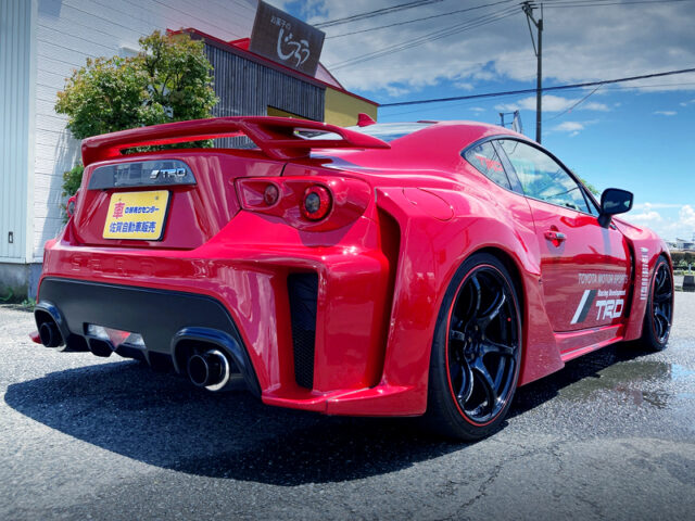 REAR EXTERIOR OF ZN6 TOYOTA 86GT WIDEBODY.