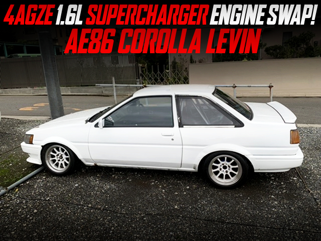 4AGZE SUPERCHARGER ENGINE SWAPPED AE86 COROLLA LEVIN 2-DOOR.