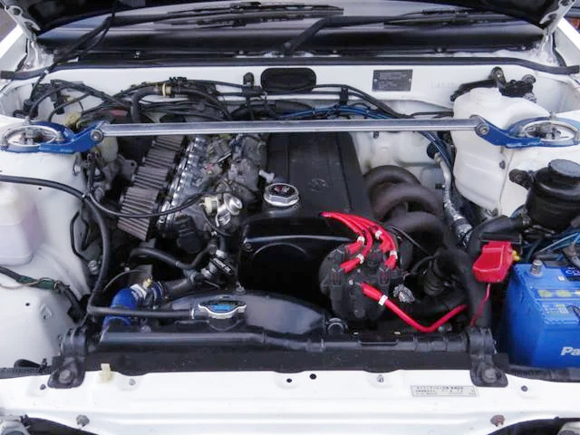 AE111 20V 4A-GE ENGINE SWAP into AE86 TRUENO ENGINE ROOM.