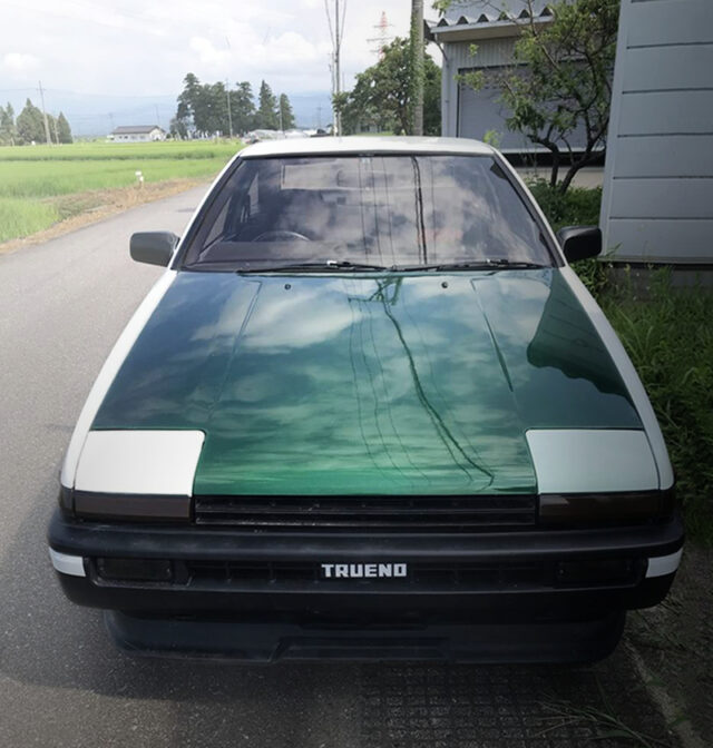 FRONT FACE OF AE86 LEVIN GT-APEX.