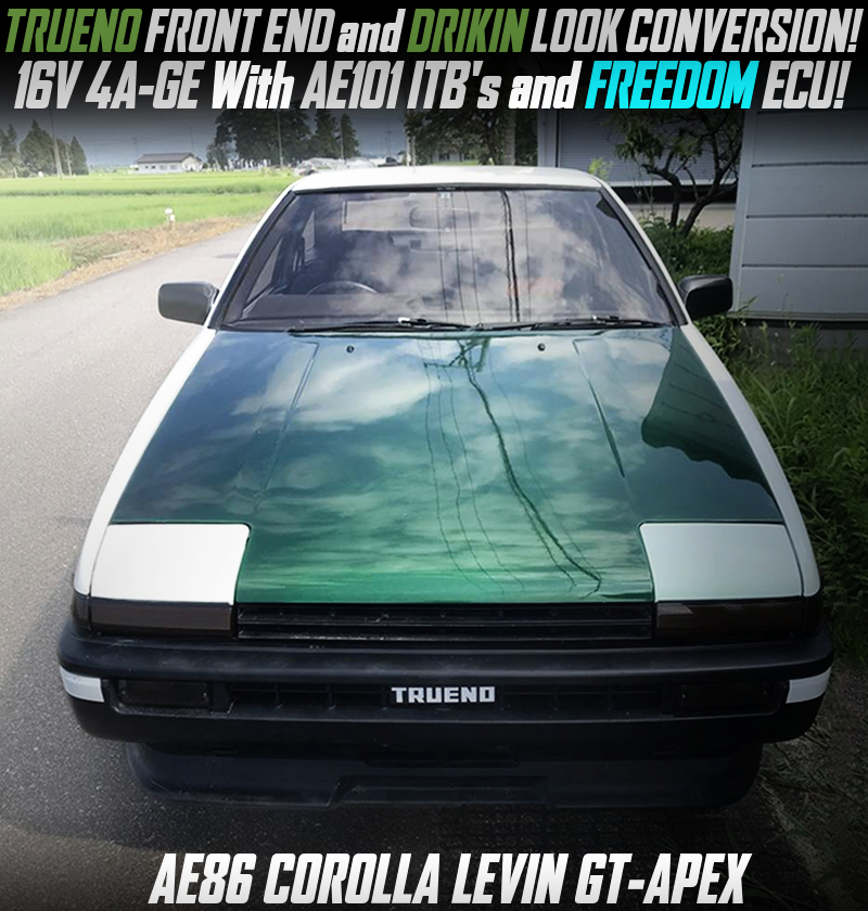 TRUENO FRONT END and DRIFT KING LOOK CONVERSION of AE86 LEVIN GT-APEX.