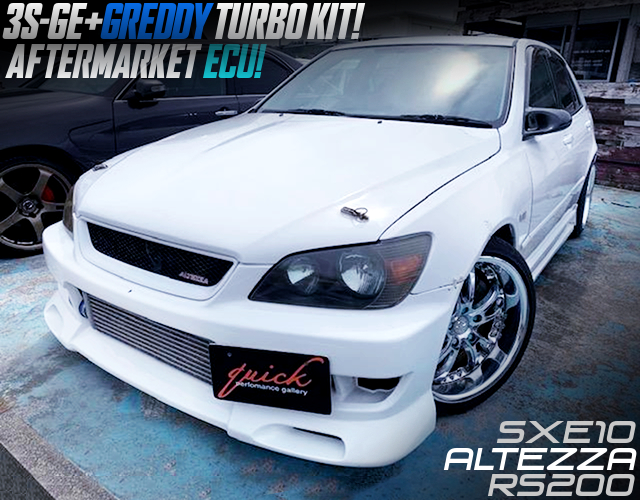 GREDDY TURBO KIT on 3S-GE into SXE10 ALTEZZA RS200.