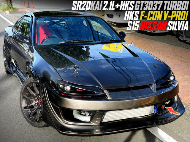 SR20DET with 2.1L and GT3037 SINGLE TURBO into S15 SILVIA.