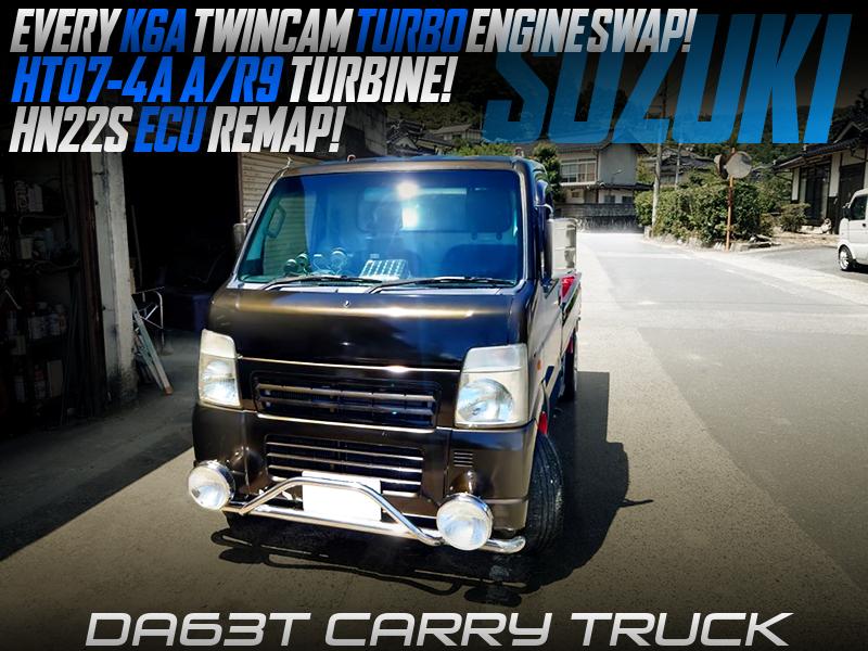 K6A TWINCAM TURBO SWAP with HT07-4A TURBINE into DA63T CARRY TRUCK.