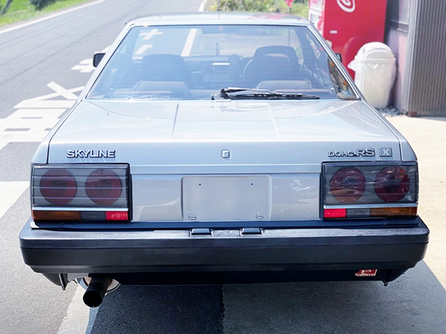 REAR EXTERIOR OF DR30 IRON MASK SKYLINE.