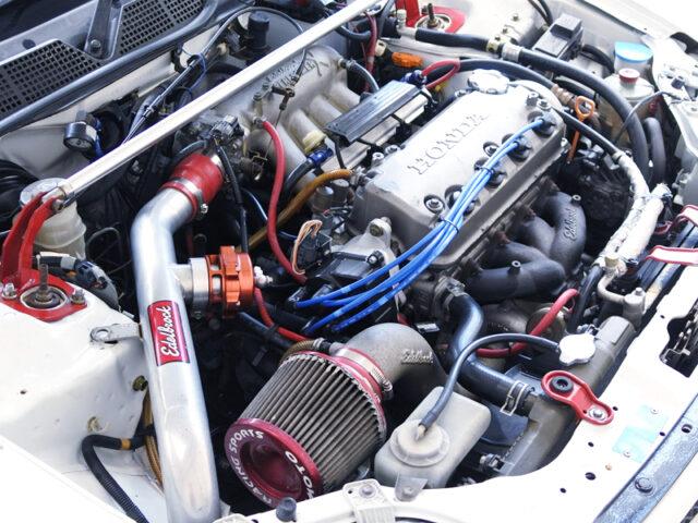 D15B 1.5L VTEC ENGINE with EDELBROCK TURBO KIT.