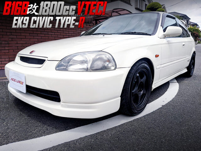 B16B with 1.8L STROKER and REMAPPED ECU into EK9 CIVIC TYPE-R.