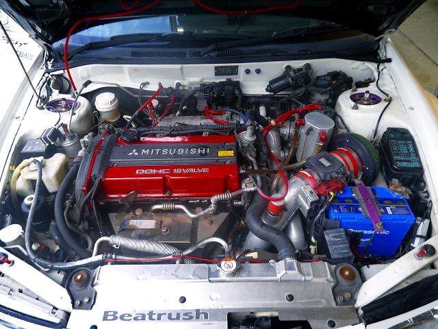 4G63 TURBO ENGINE.