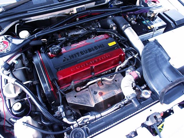 4G63 TURBO ENGINE OF CT9A LANCER EVOLUTION 7 GSR.