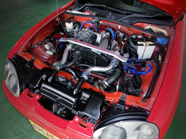 HT07 TURBOCHARGED F6A TWINCAM ENGINE.